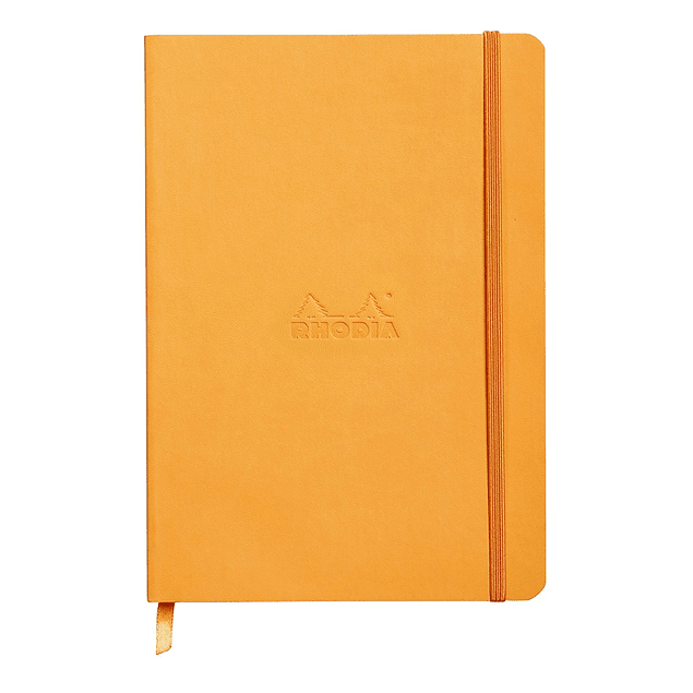 Rhodiarama Soft Cover A5, Orange, Líneas