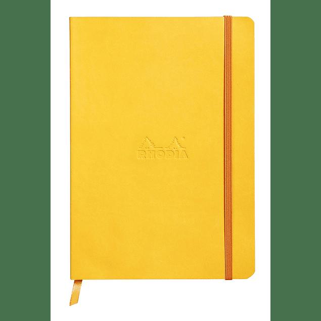 Rhodiarama Soft Cover A5, Amarillo, Líneas