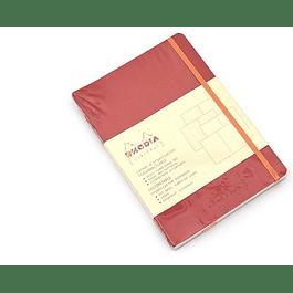 Rhodia Goalbook A5 Cuadriculado Amapola