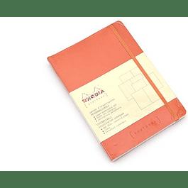 Rhodia Goalbook A5 Cuadriculado Mandarina