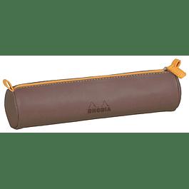 Estuche Rhodia - 21.5 x 5 cm - Color Chocolate