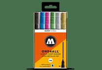 6 marcadores acrílicos One4All 227HS 2mm Metálico.