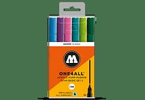 6 marcadores acrílicos One4All 227HS 2mm Set II