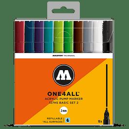 Acrylic marker One4All 127HS 2mm Wallet Basic-Set 2 10 pcs. 4250397614342