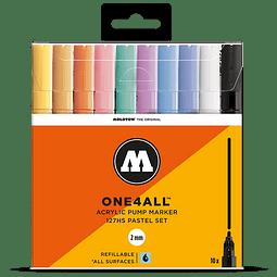Acrylic marker One4All 127HS 2mm Wallet Pastel-Set 10 pcs.