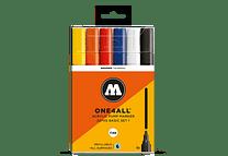 6 marcadores acrílicos One4All 227HS 4mm Colores básicos-Set I.