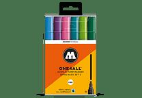 6 marcadores acrílicos One4All 227HS 4mm Colores básicos-Set II.