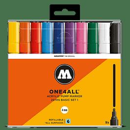 Acrylic marker One4All 227HS Wallet Basic-Set 1 10 pcs.