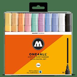 Acrylic marker One4All 227HS 4mm Wallet Pastel-Set 10 pcs.