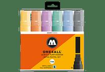 6 marcadores acrílicos One4All 627HS 15mm Colores pasteles
