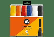 6 marcadores acrílicos One4All 627HS 15mm Colores basicos- Set I