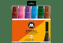 6 marcadores acrílicos One4All 627HS 15mm Colores básicos- Set II