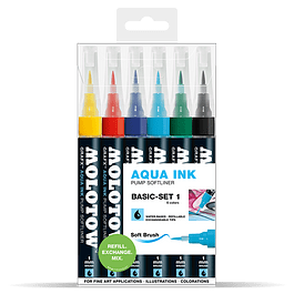 Pump Softliner Aqua 1mm Wallet Basic-Set 1 6 pcs.