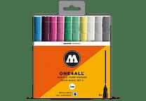 10 marcadores acrílicos One4All 127HS 2mm Colores Básicos-Set III