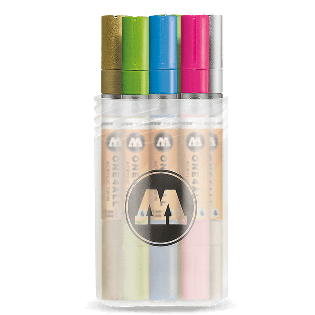 Acrylic marker One4All Twin 1,5mm/4mm Box Main-Kit 2 12 pieces