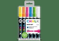 Chalk marker 4mm Colores Neón-Set II 6 pzs