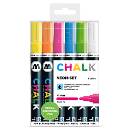 Chalk marker 4mm Wallet Basic-Set 2 6 pcs.