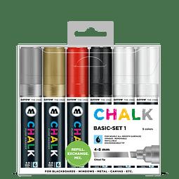 Chalk marker 4-8mm Wallet Basic-Set 1 6 pcs.