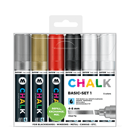 Chalk marker 4-8mm Wallet Basic-Set 1 6 pcs.