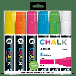 Chalk marker 15mm Wallet Basic-Set 2 6 pcs.