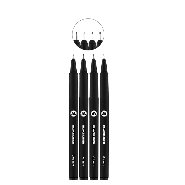Blackliner Etui Set 1 4 pcs.