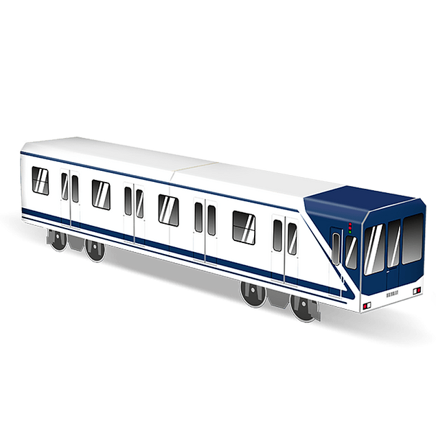 Cardboard wagon Mini Subwayz Theme: Madrid 4250397618296