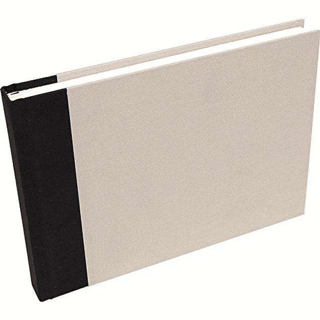 Travel drawing album A5 - Light grey canvas