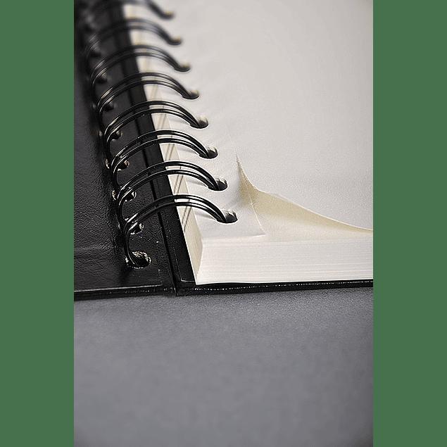 Goldline wirebound book A5 64sh 140g Ivory P