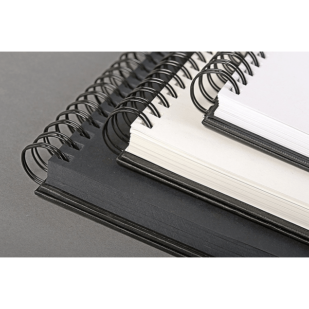 Cuaderno de bocetos (Retrato) Goldline doble espiral - (2 tamaños)
