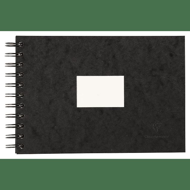Libreta de viaje para Acuarela (3 tamaños) - Portada color negro