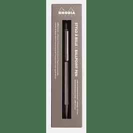 Rhodia 0.7 mm Script Ballpoint Pen - Rosewood