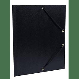 Black kraft art A4 elastics 26 x 33 cm