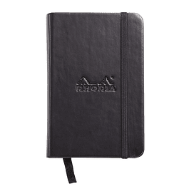 Libreta de Notas hojas color Marfil - A7 75 x 120 mm - Color negro