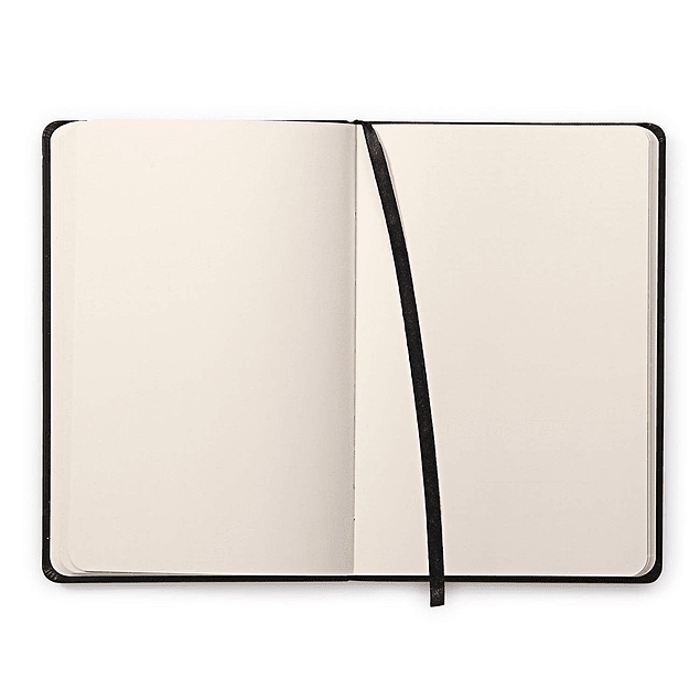 Libreta de Notas hojas color Marfil - A7 7,5 x 12 cm - Color negro