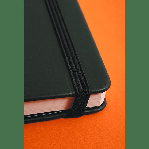 Cuaderno Notas Marfil Apaisado 14 x 11 cm - Color Negro