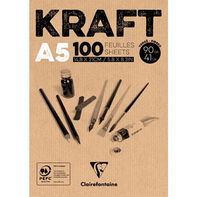 Bloc encolado de Papel Kraft 90 g - (3 tamaños)