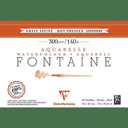 Bloc Fontaine para Acuarela Grano Sátinado - Encolado a 4 lados