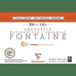 Fontaine Almohadilla de acuarela prensada en caliente - 18 x 26 cm