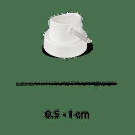 PIPE CAP 'SKINNY' (WHITE)
