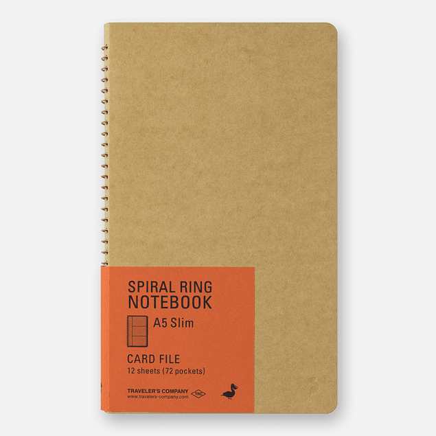 TRC SPIRAL RING NOTEBOOK <A5 Slim> Card File