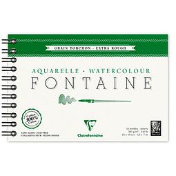 Bloc anillado Fontaine para Acuarela Grano Torchon - (3 tamaños)
