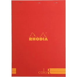 RHODIA coloR pad 21x29.7 POPPY 70sh 90gL