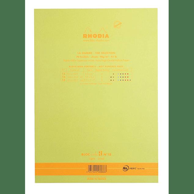 RHODIA coloR pad 21x29.7 ANISE 70sh 90gL
