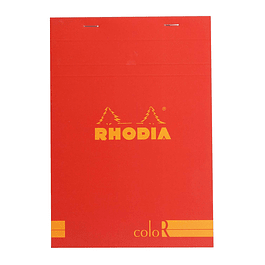 Rhodia ColorR Premium Stapled Notepad, Red, Lined,