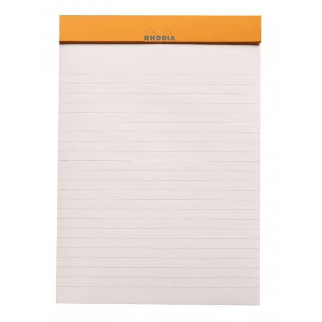 Rhodia ColorR Premium Stapled Notepad, Taupe, Lined