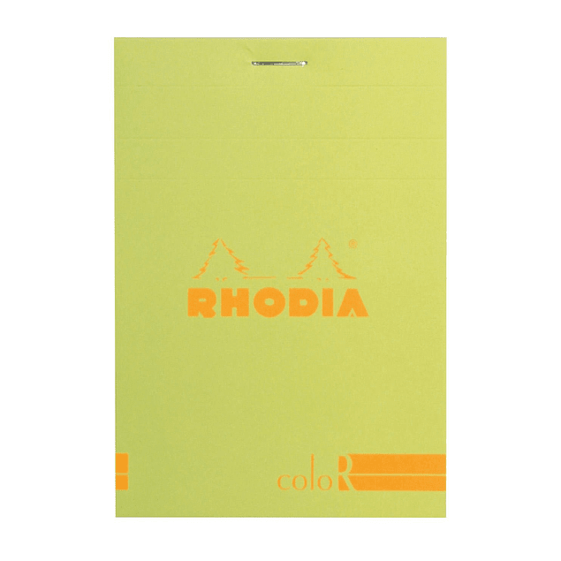 Rhodia ColorR Premium Stapled Notepad, Anis Green, Lined