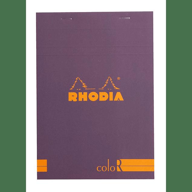 Rhodia ColorR Premium Stapled Notepad, Purpura, Lined