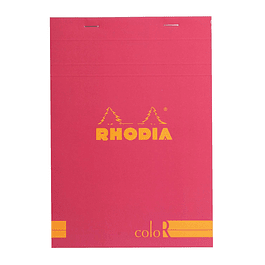 Rhodia ColorR Premium Stapled Notepad, Raspberry, Lined