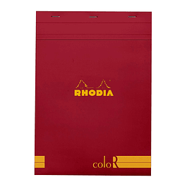 Rhodia ColorR Premium Stapled Notepad, Poppy, Lined