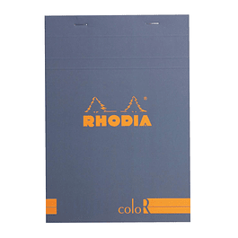 Rhodia ColorR Premium Stapled Notepad, SAPPHIR, Lined, 6 x 8 1/4